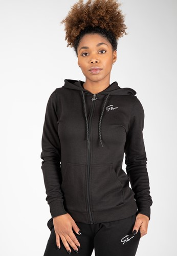 Pixley Zipped Hoodie - Black - L