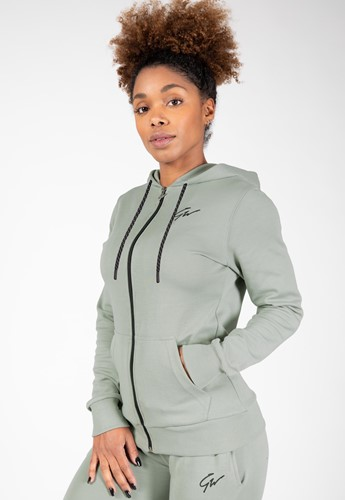 Pixley Zipped Hoodie - Light Green - XS