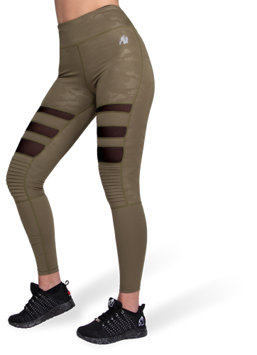 Savannah Biker Tights - Army Green Camo - M