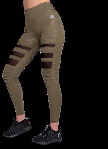 Savannah Biker Tights - Army Green Camo - XS