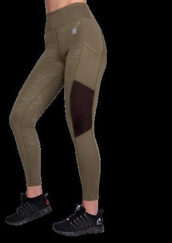Savannah Mesh Tights - Army Green Camo - XL