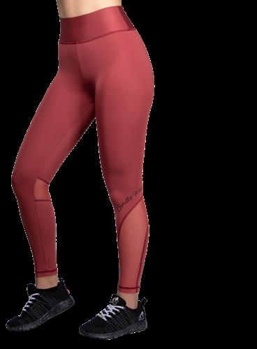 Kaycee Tights - Burgundy Red - M