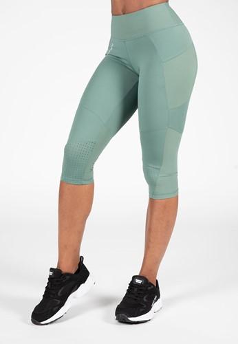 Monroe Cropped Leggings - Green - XS