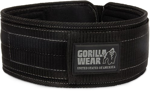 Gorilla Wear 4 Inch Nylon Belt - S/M