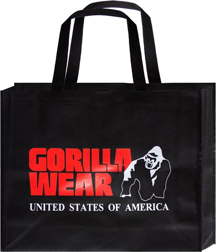 Non Woven Gorilla Wear Bag - Black/Red - Large (10 pieces/poly pack)