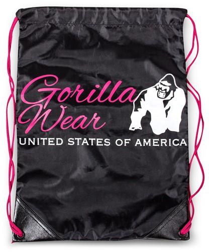 Gorilla Wear Drawstring Bag - Black/Pink