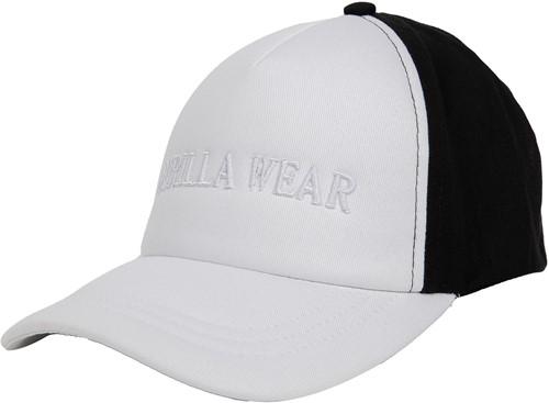 Sharon Ponytail Cap - White/Black