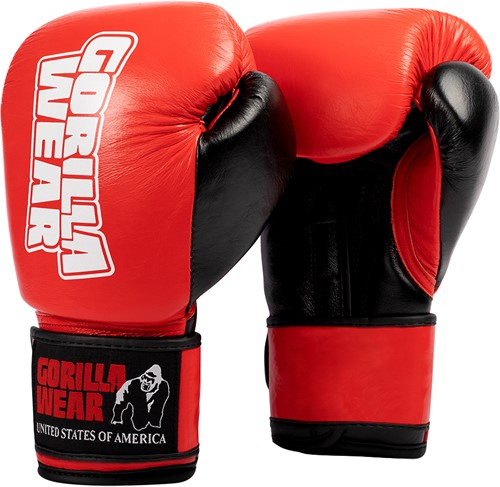 Ashton Pro Boxing Gloves - Red/Black - 16oz