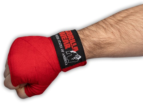 Boxing Hand Wraps - Red - 4m