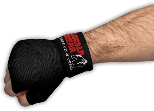Boxing Hand Wraps - Black - 4m