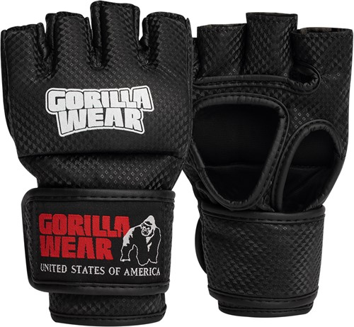 Berea MMA Gloves (Without Thumb) - Black/White - S/M