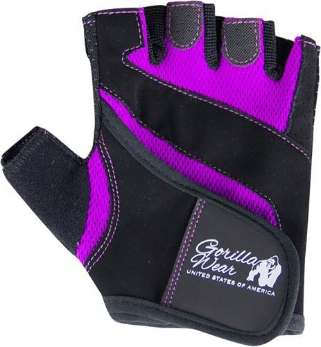 Women's Fitness Gloves - Black/Purple L