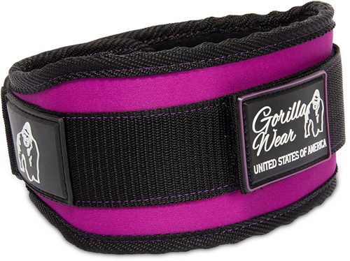 Gorilla Wear 4 Inch Women's Lifting Belt - Black/Purple - S