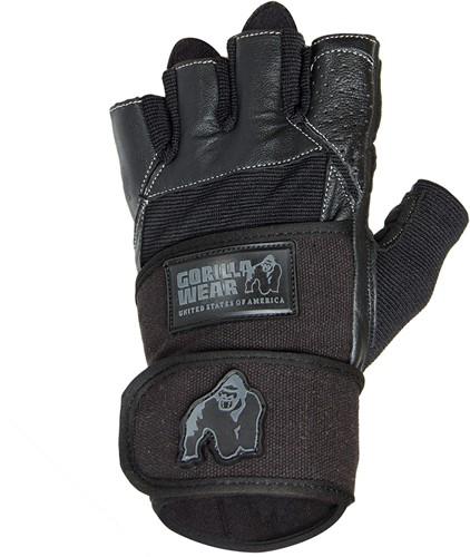 Dallas Wrist Wrap Gloves - Black - M