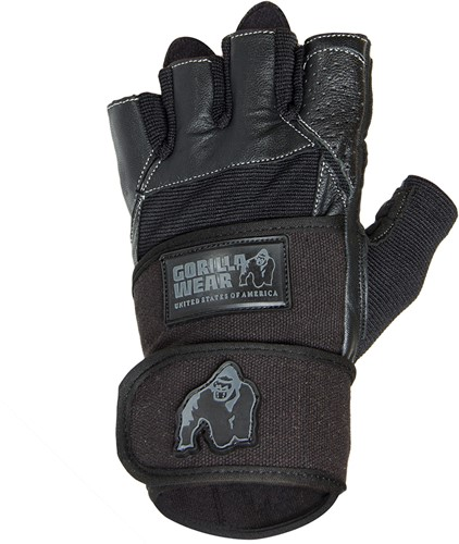 Dallas Wrist Wrap Gloves - Black-S