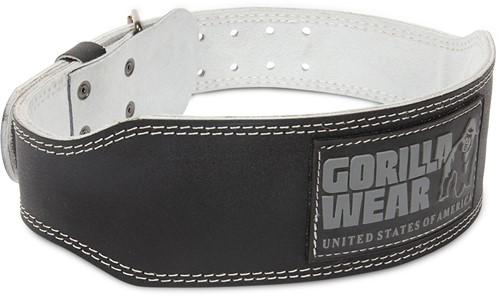 Gorilla Wear 4 Inch Padded Leather Lifting Belt - Black/Gray - 2XL/3XL
