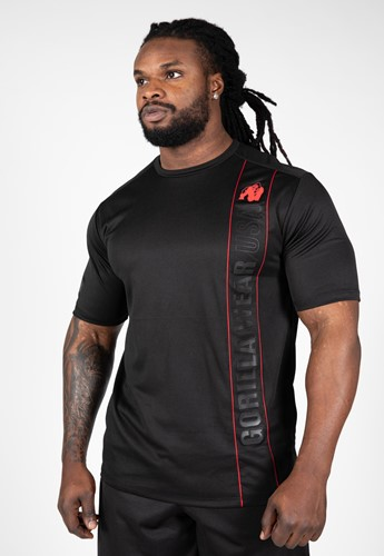Branson T-Shirt - Black/Red - 5XL