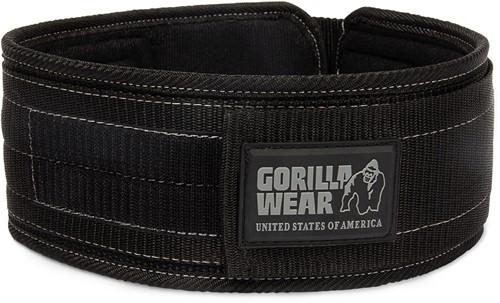 Gorilla Wear 4 Inch Nylon Lifting Belt - Black/Gray - L/XL